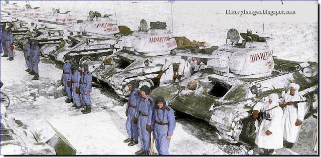 Russian  T-34/76F tanks
