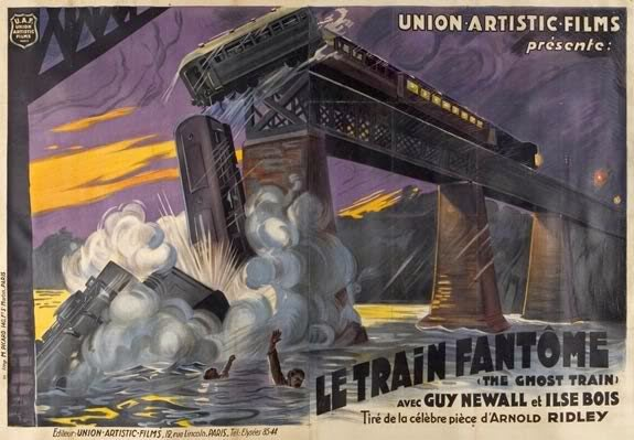 French poster for The Ghost Train aka Le Train Fantôme (1927)