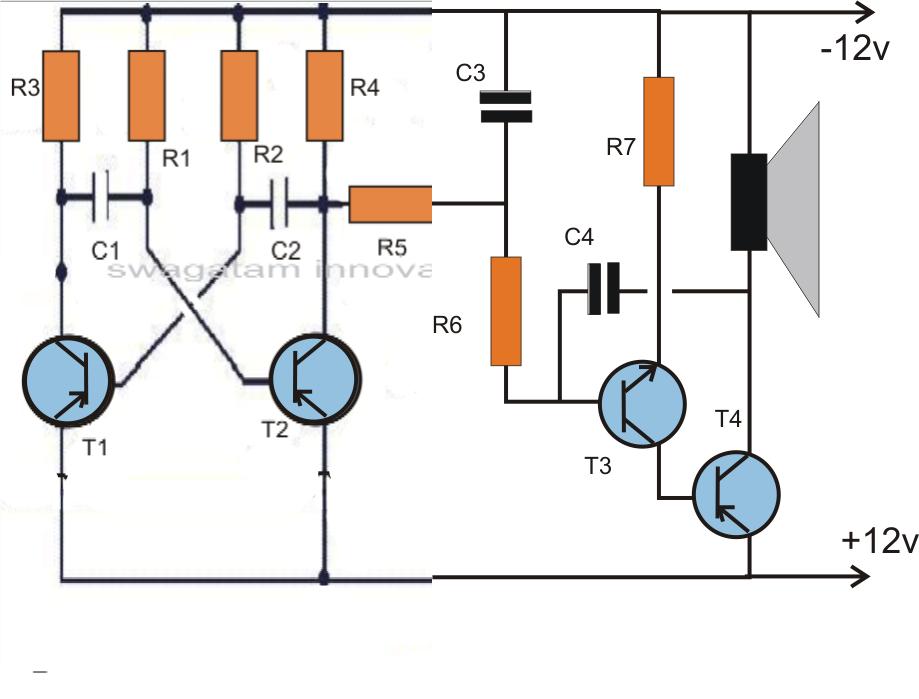 parts for dual tone siren circuit