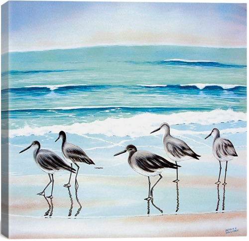 Shorebirds on the Beach Canvas