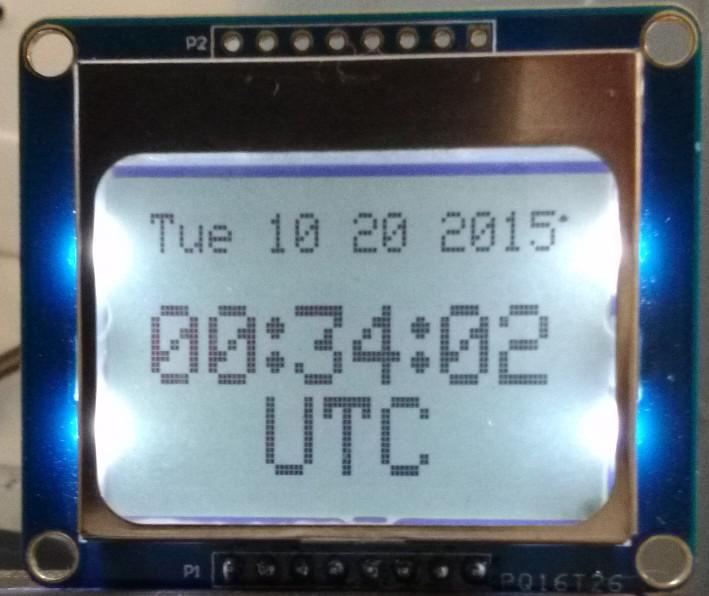 ESP8266 Arduino WiFi NTP clock for PCD8544 LCD display | X10 Linux