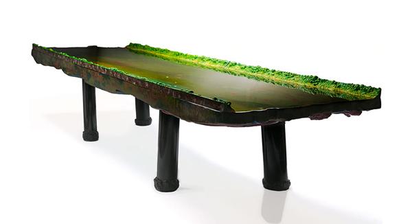 Increíbles mesas con superficie de agua