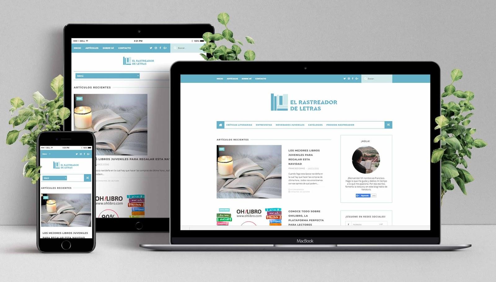 Diseño Web de El Rastreador de Letras