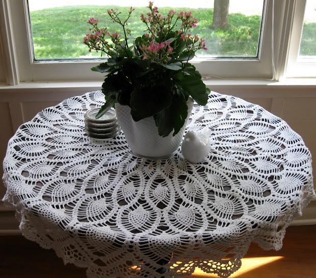 Creative Quest Crochet Pineapple Tablecloth