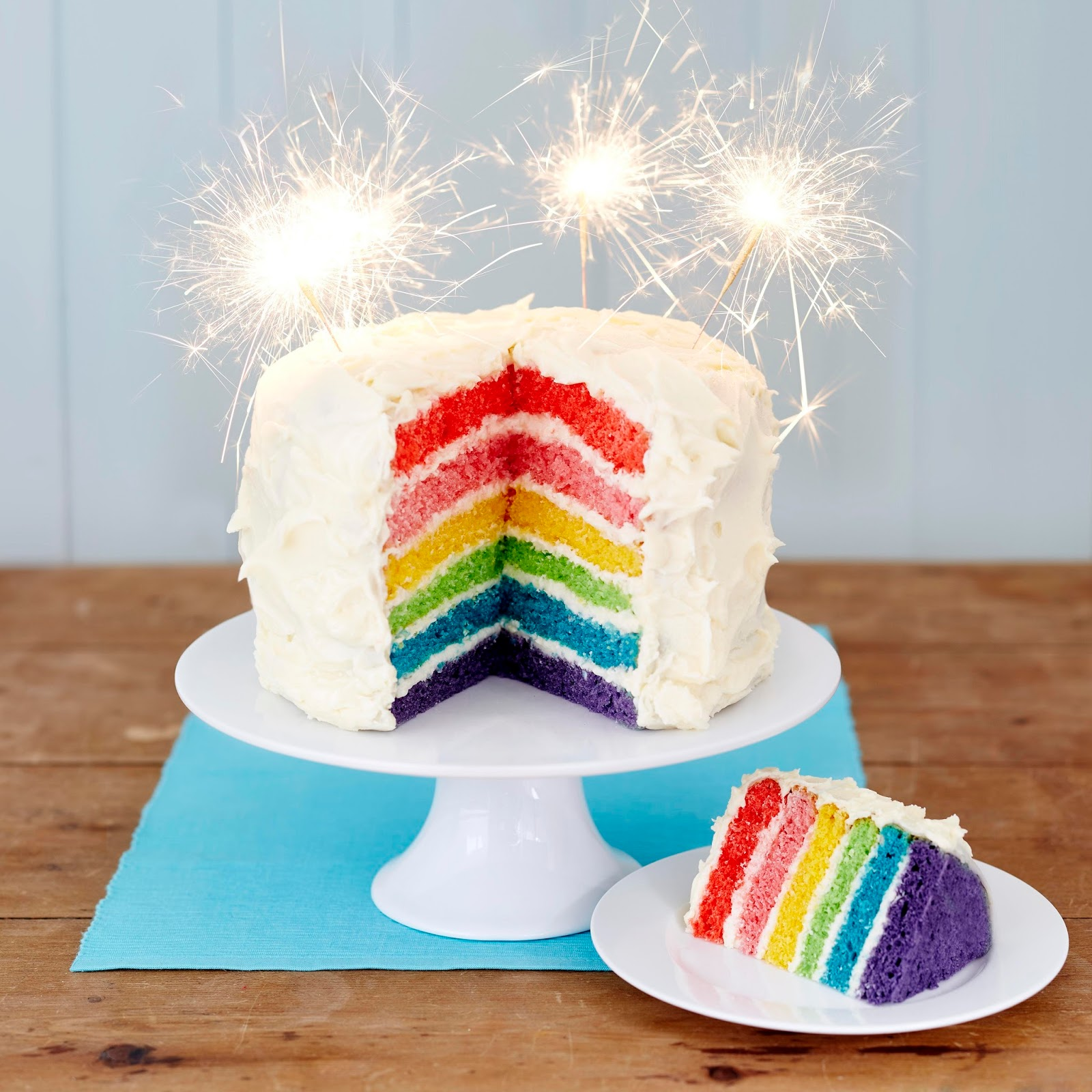 Gluten Free Rainbow Cake: Birthday Party Special