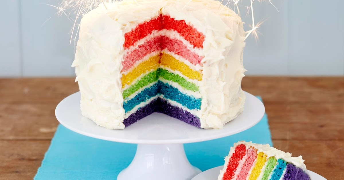 Gluten Free Cake Decorating Icing : Gluten Free Rainbow Cake... Claire Justine