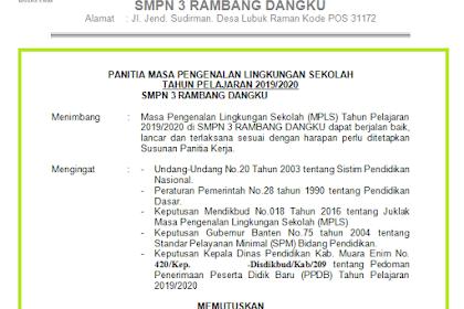 SK Panitia MPLS Doc   SD SMP SMA SMK