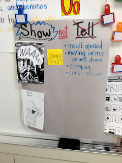 Show Not Tell Emergent Writing Example