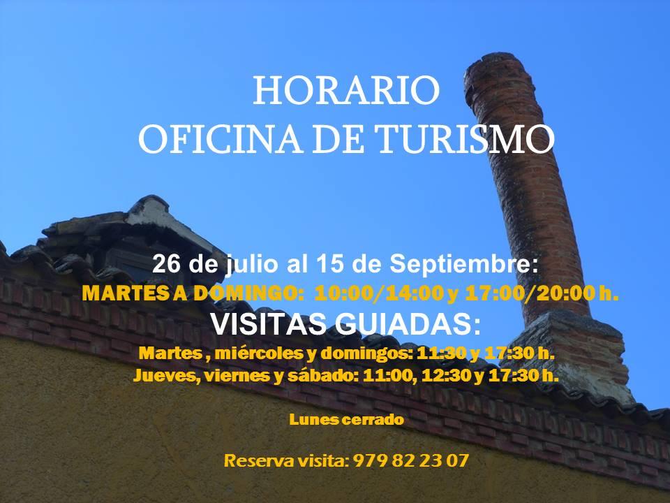 Turismo astudillo horario oficina de turismo for Horarios de oficina de correos