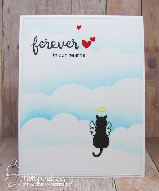 Cat Sympathy card by Holly Endress | Furr-ever Friends | Dog and Cat Sympathy Stamp Set by Newton's Nook Designs #newtonsnook