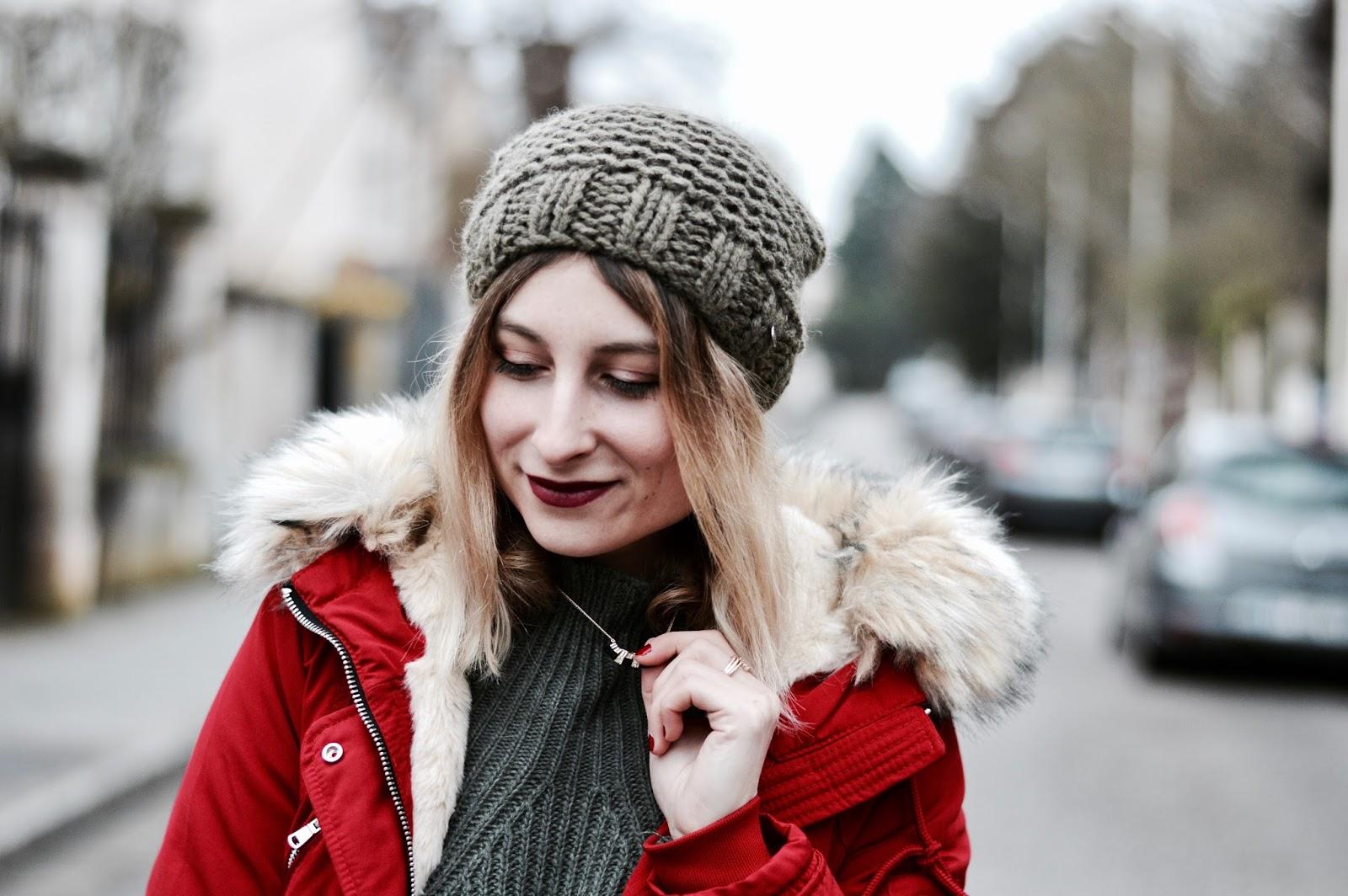 look femme hiver 2018 : parka rouge pimkie ventes privées / soldes
