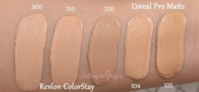 L'oreal Infallible Pro Matte 24hr Foundation 104 105 Natural Beige Swatches