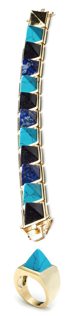 Eddie Borgo Multi-Stone Pyramid Bracelet