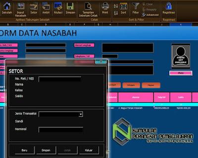 Aplikasi Tabungan Siswa Format Excel Dengan Tampilan Baru