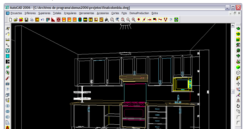 Dise o de muebles madera domus profesional software for Programa diseno cocinas profesional