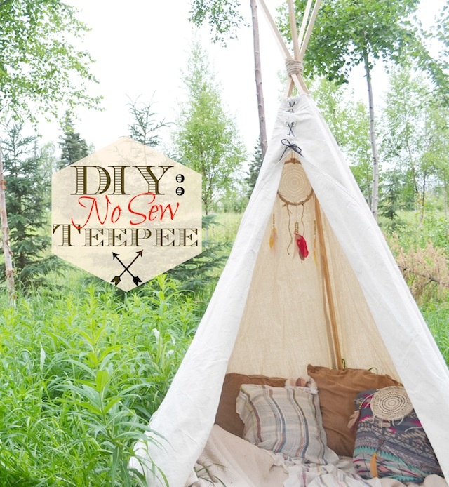 fawn over baby diy no sew teepee. Black Bedroom Furniture Sets. Home Design Ideas