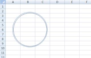 membuat lingkaran cap pada excel