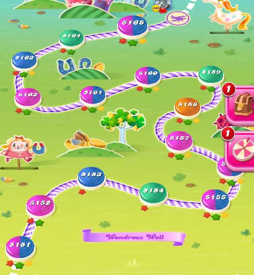 Candy Crush Saga level 5151-5165