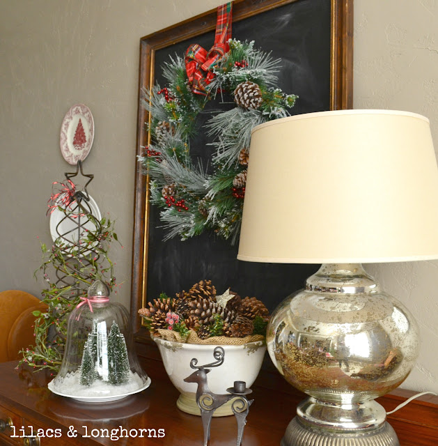 Christmas Tablescape Dining Room Decor Lilacs And