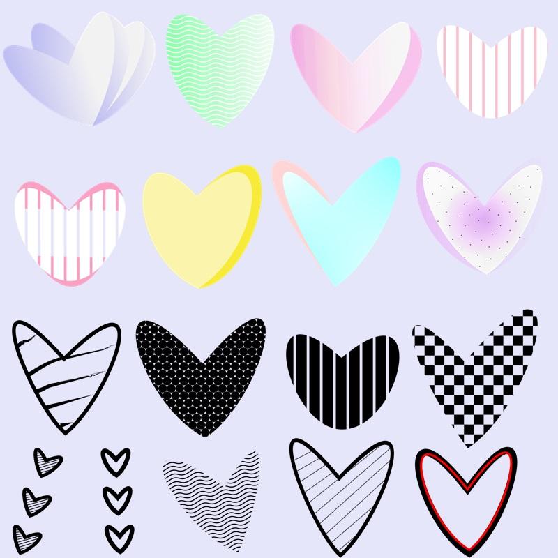 pack de corações