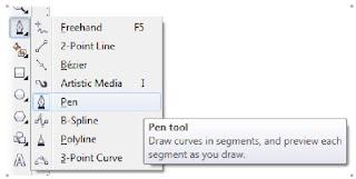 penggunaan Pen Tool desain stempel