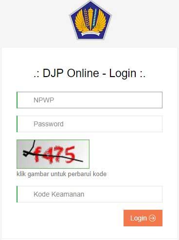cara login e-filling atau djp online
