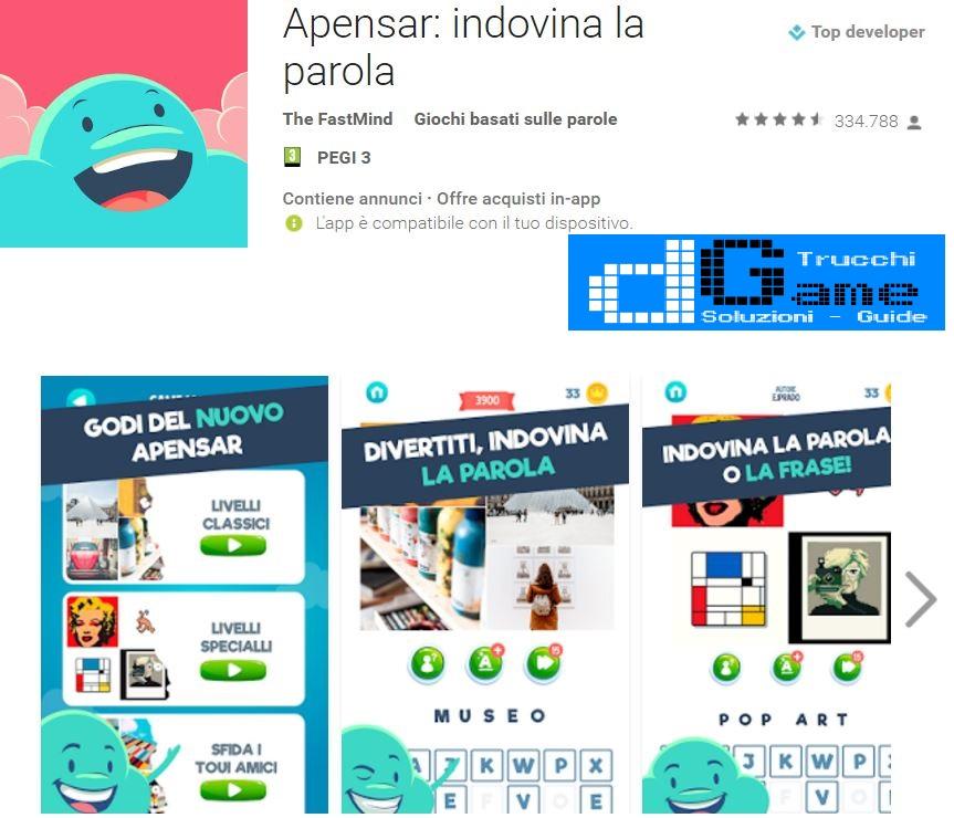 Trucchi Apensar: indovina la parola Mod Apk Android v5.0.15