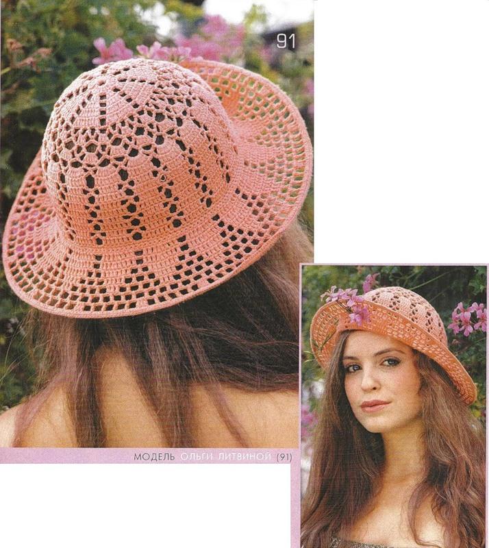 Asombroso Crochet Patrón De Sombrero De Flores Modelo - Manta de ...