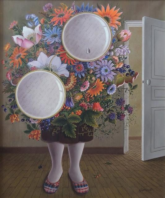 Gervasio Gallardo pintura cuadro surrealismo flores