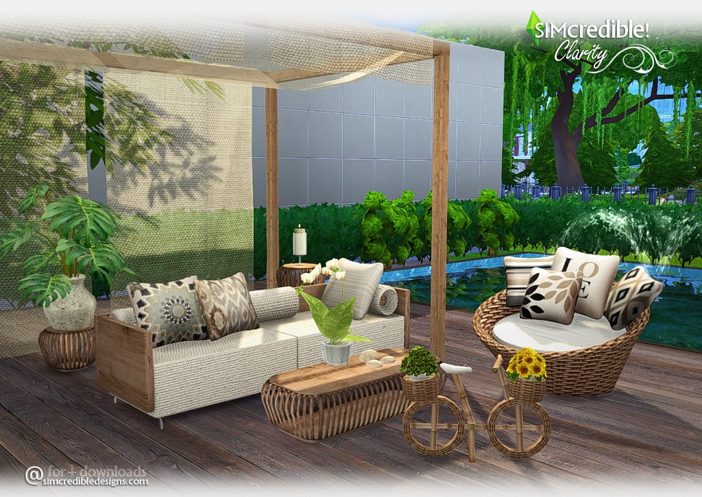 My sims 4 blog clarity outdoor set by simcredible designs for Sims 4 exterior design