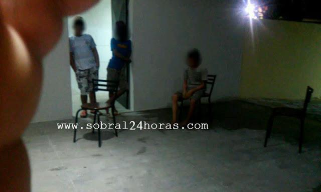 GRAÇA- CE: POLÍCIA MILITAR APREENDE 3 MENORES SUSPEITOS DE FURTO