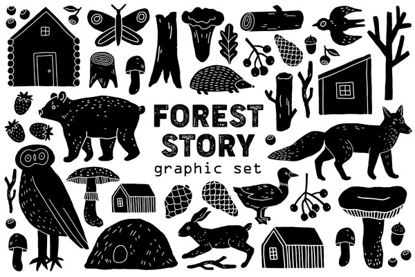 Forest Story Graphic Set