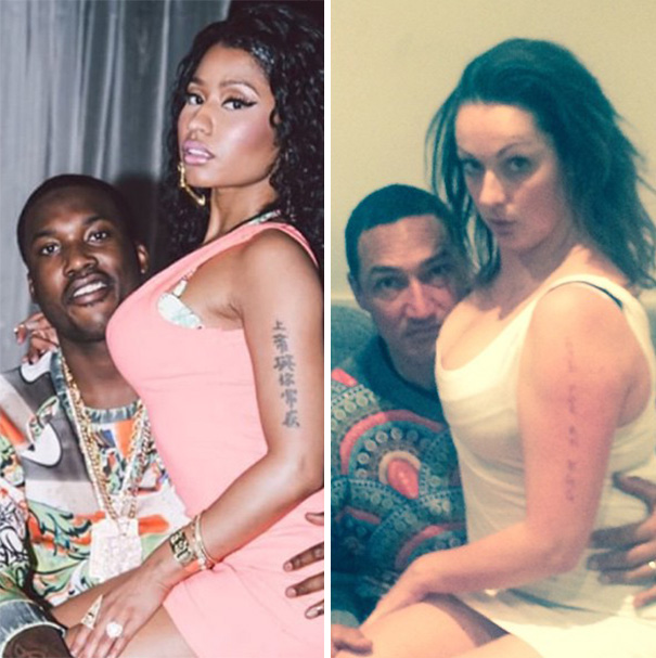 Woman Hilariously Recreates Celebrity Instagram Photos - Nicky Minaj