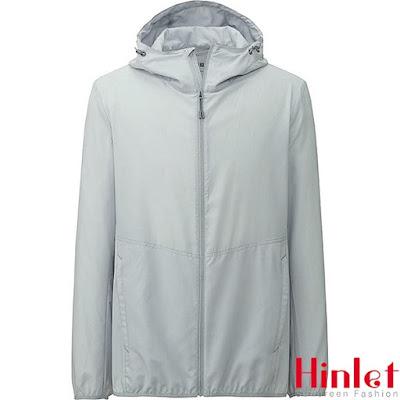 áo khoác chống nắng nam màu xám