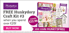 Free Hunkydory box kit worth £12.99