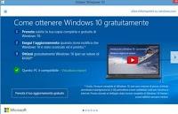 Si può rinviare Windows 10, per installarlo in futuro sempre gratis