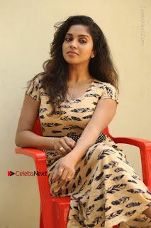 Telugu Actress Karunya Chowdary Stills in Short Dress at ATM Not Working Press Meet  0204.jpg