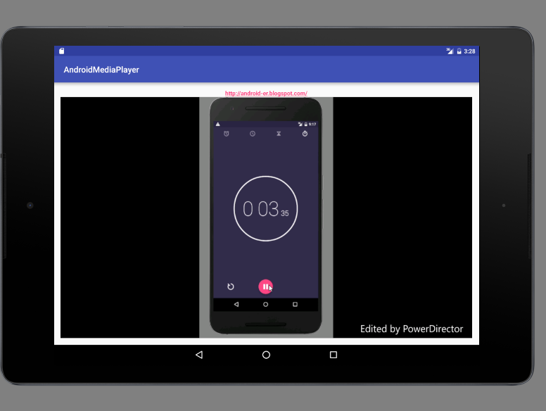 Android-er: MediaPlayer example to play video from Internet