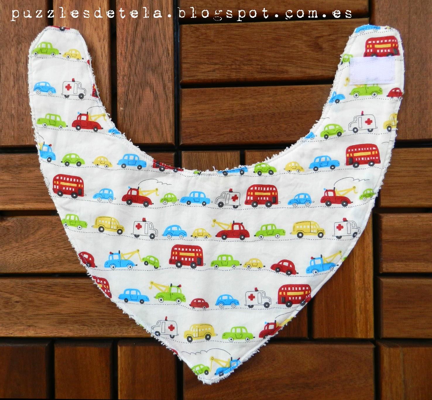 Puzzles de tela, regalos para bebés, babero bandolera, patchwork,  hecho a mano, handmade