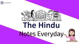The Hindu Notes 20 May 2019 Important Articles