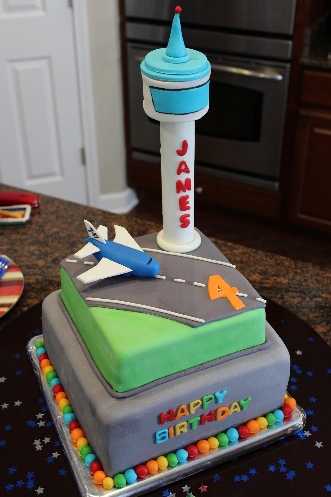 Cake Flair Airplane Airport Cake