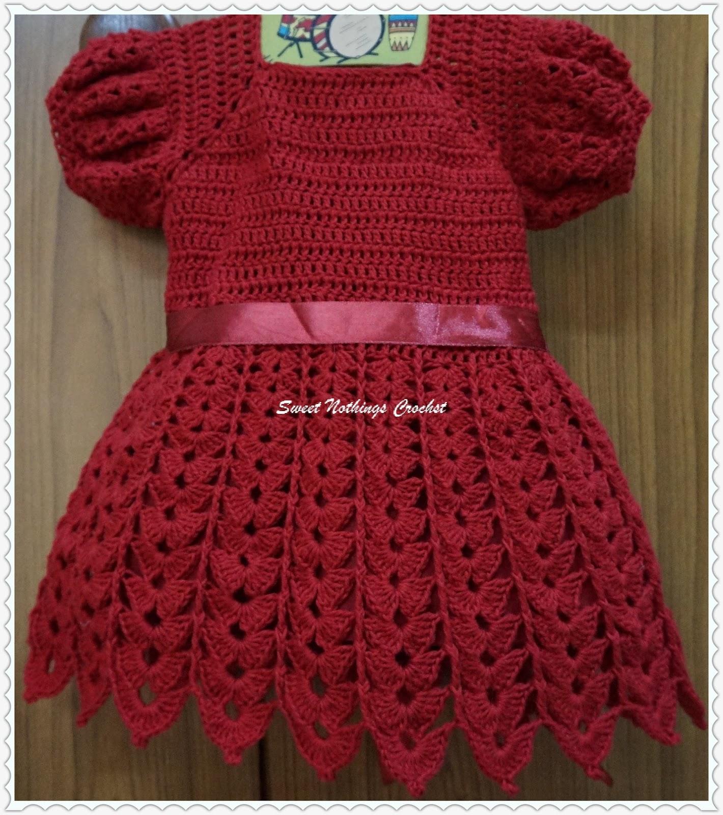 2ae30c56c Sweet Nothings Crochet  CHANDU s SHELLED BABY DRESS 1