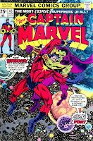 Captain Marvel v2 #43 marvel 1970s bronze age comic book cover art by Bernie Wrightson