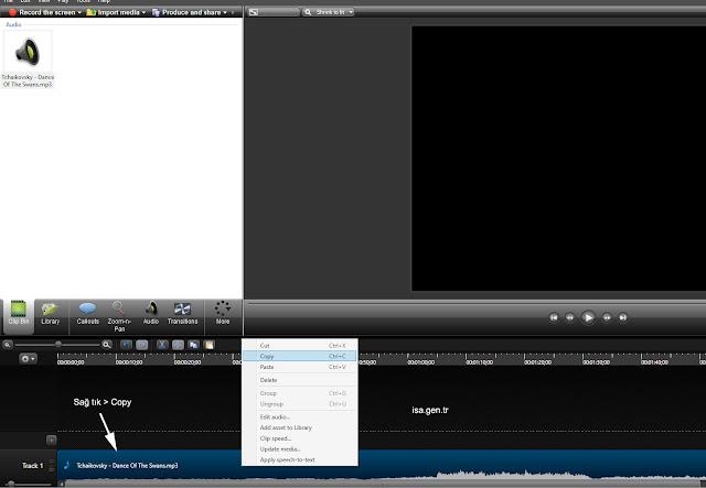 mp3 track dosyasını kopyalıyoruz