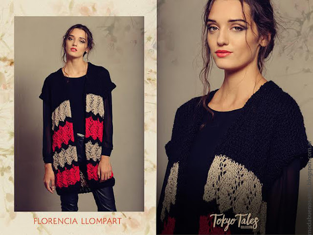 Sweaters y chalecos tejidos invierno 2016 moda.