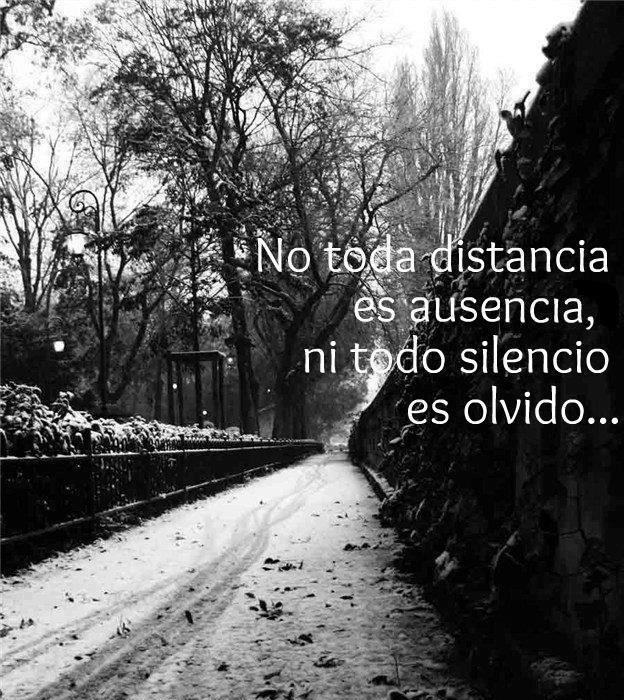 Frases No Toda Distancia Es Ausencia Ni Todo Silencio Es