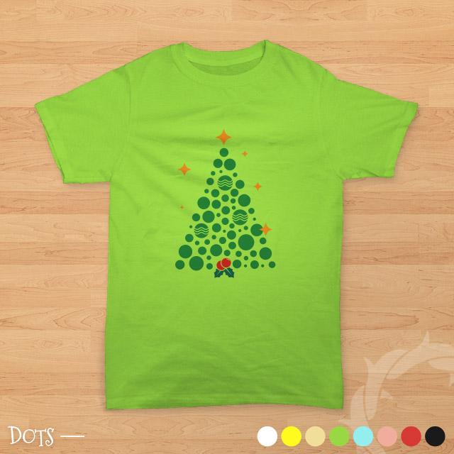 teesalonika dots - kaos rohani bergambar pohon natal
