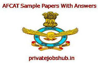 AFCAT Sample Papers With Answers