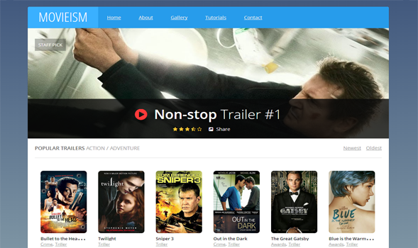 Movieism video Blogger template