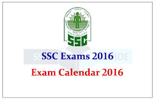 Staff Selection Commission-Exam Calendar -2016